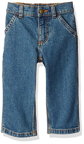 Carhartt Baby Boys Denim Dungaree Pant, Medium wash, 3M ()