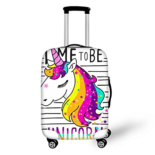 Cute Unicorn Printed Luggage Cover Suitcase Protector for Travel Rolling Luggage