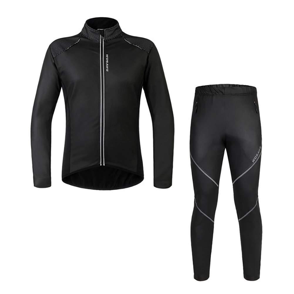 Beauty leader Männer und Frauen Winddicht Thermische Langärmelige Reitanzug Reflektierende Streifen 3 Tasche Reflektierende Reißverschluss Material Schwarz
