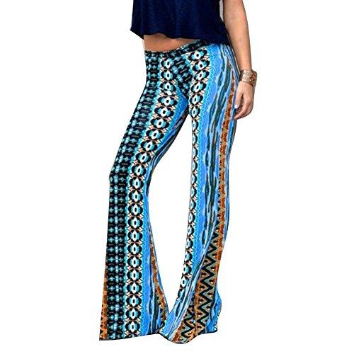 Pantaloni Donna Tempo Pantaloni Glamorous Di Stoffa Stampate Lunga Modern Fit Slim Elastica Libero Eleganti Colour Pantaloni Vita Spiaggia 10 nbsp; Di Semplice Campana Moda Pantaloni Trousers Pattern A Estivi Moda RxZBYwtq