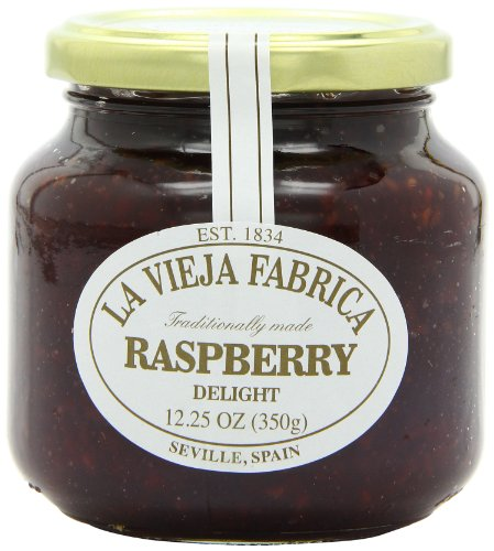La Vieja Fabrica Jams, Raspberry Delight, 12.25 Ounce (Pack of 6)