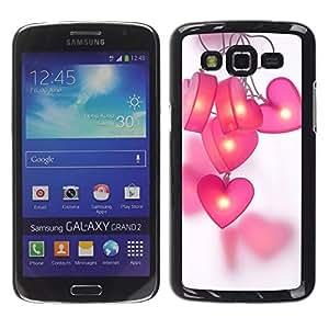 TaiTech / Hard Protective Case Cover - Grey Purple Black Pattern - Samsung Galaxy Grand 2 SM-G7102 SM-G7105 by ruishername