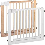 IB-Style - Door- & Stairgate Safetygate Kolby | 80 - 86 cm | 31.5' - 33.9' |double locked | hardwood - white