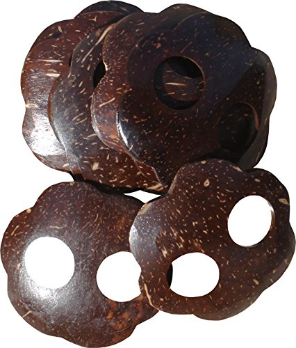 RaanPahMuang Rounded Coconut Button Loop, Buckle for Tied Skirts / Dresses 10pcs