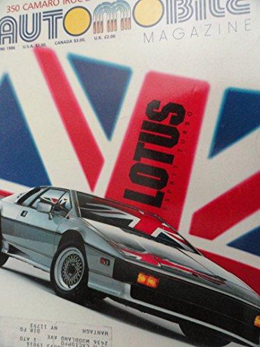1986 Lotus Esprit Turbo / Chevy Chevrolet Camaro IROC Magazine Article ()