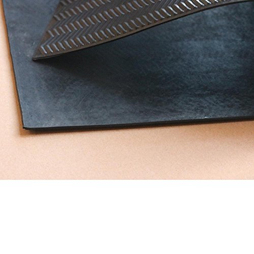 Black shoe rubber soling sheet - 1/8'' thickness Shoe soles repairing rubber sheet. Shoes bottom repairing material by EZ ShoePAD (Image #1)