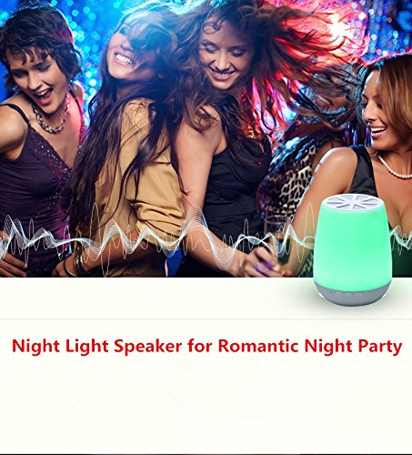 Smart App Control LED Bluetooth Speaker ,HJD Light Night Lamp Colorful Night Lights Hands Free Alarm Clock App Control for Home, Spa, Bedroom, Office by HJD LIght (Image #7)