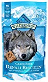 Blue Buffalo Wilderness Denali Biscuits High Protein Grain Free Crunchy Dog Treats, Wild Salmon, Venison, & Halibut 8-oz bag
