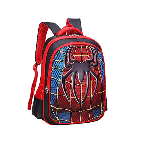 Alipher 3D Backpack Waterproof Backpack Comic Bag Shoulder Backpack Spiderman Pattern Large