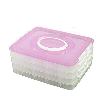 Rosa Plástico Cajas de verde y rosa, Fresh caja de almacenaje, cajas de microondas