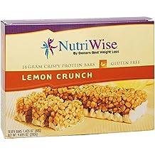 NutriWise - High Protein Diet Bar | Lemon Crunch | Low Calorie, Low Fat, Cholesterol free ( 7 Bars )