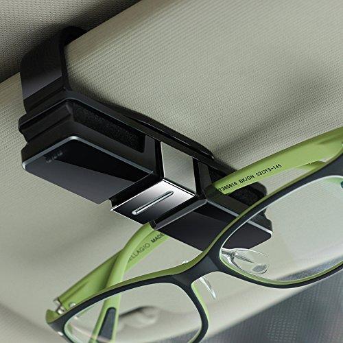 Double Sunglass Holder, Glasses Holder for Sun Visor, Double-Ends Clip for All Glasses and Eyeglasses (Handy Eyeglass Clip)
