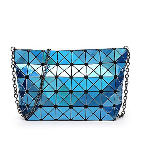 Dxqi blu pieghevole donna Lady selvaggio Messenger borsa Casual Bag Pu moda rrwdTqv