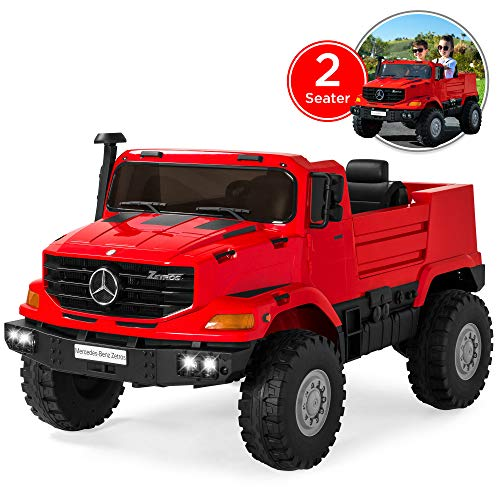 Best Choice Products Kids 24V Licensed Mercedes-Benz Ride-On with Lights/Sounds, Radio, Trunk, Red (Best Ride On For 3 Year Old)