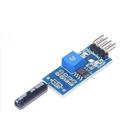 Lorsoul 1PCS para el módulo de Sensor de vibración Arduino Módulo de Alarma de vibración Conmutadores