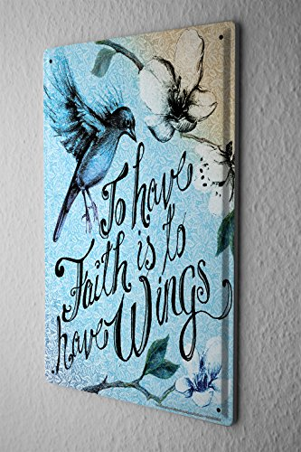 Tin Sign Fun To have faith by LEOTIE
