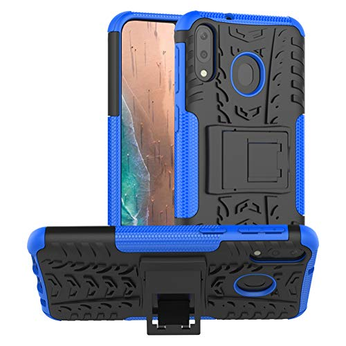 Samsung Galaxy M20 Case,PUSHIMEI Air Cushion Heavy Duty Shockproof with  Kickstand Hard PC Back Cover Soft TPU Dual Layer Protection Phone Stand  Case