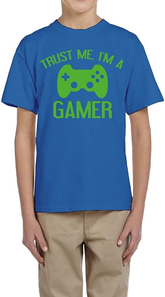 Im A Gamer for Boys Fzjy Wnx Short-Sleeve T-Shirts Youth Crewneck Trust Me