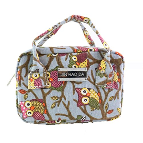 Tote Owl Pattern TM Large Women Ladies DEESEE Bag Shoulder Purse Handbag Blue 8wORtxxUq