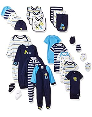 Gerber Baby Boys' 26 Piece Essentials Gift Set