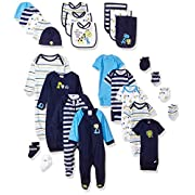 Gerber Baby Boys' 26 Piece Essentials Gift Set, Safari, 0-3 Months