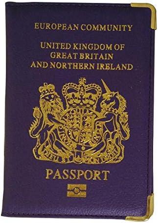 Fliyeong PU lederen UK Europese paspoorthouder Protector Cover creatief en nuttig