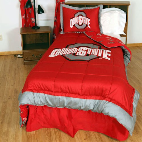 Ohio State University Comforter (College Covers Ohio State Buckeyes Reversible Comforter Set, King)