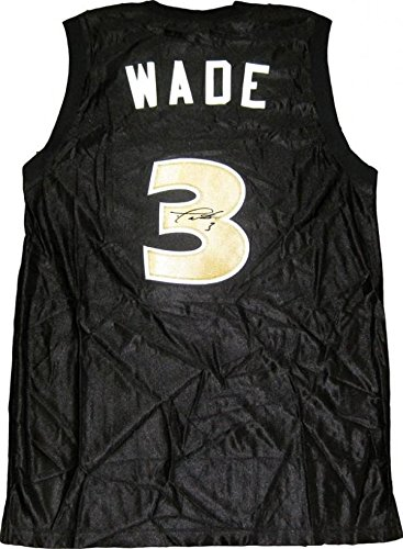 c1d67f9f8 Image Unavailable. Image not available for. Color  Signed Dwyane Wade Jersey  - Richards High School Black - Autographed NBA Jerseys