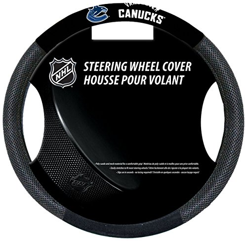 Fremont Die NHL Vancouver Canucks Poly-Suede Steering Wheel - Flag Canucks Car