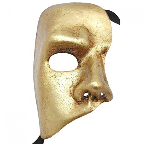 Gold Phantom Of The Opera Fantasma dell Opera Masquerade Mask ()