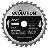 Evolution Power Tools 8-1/4BLADEWD 8-1/4-Inch Wood Cutting Blade with 1-Inch Arbor