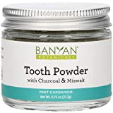 Banyan Botanicals Tooth Powder – Fluoride-Free Herbal Toothpaste Powder Alternative with Miswak & Charcoal – for Strong, Hea