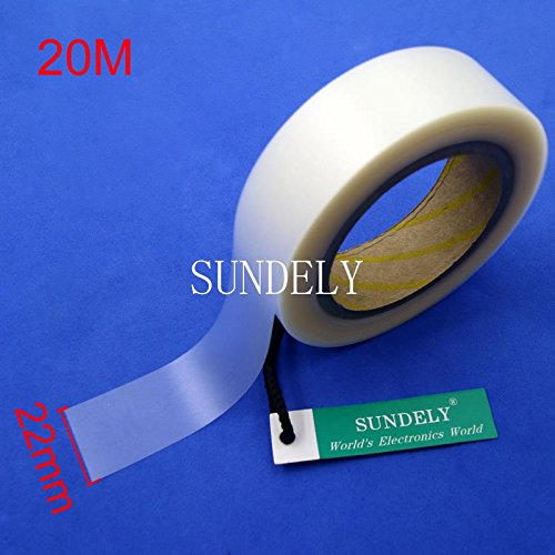 22mm Wide X 20m Long with 2 Layer for Waterproof PU Coated Fabrics SUNDELY Clear Hot Melt Seam Sealing Tape Roll 0.86 X 65
