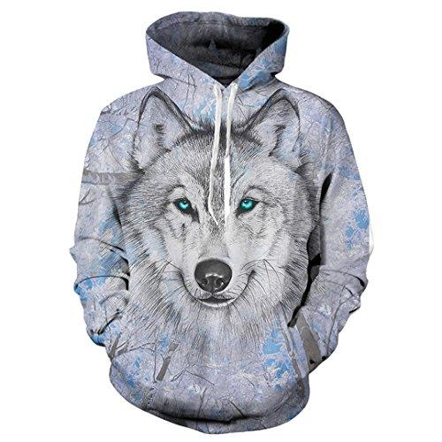 EUR Plus Size Wolf Sudaderas Impresión 3D Animales del Hombre Lobo Hoody Sudadera Hip Hop Unisex Chaqueta con Bolsillos Grandes Tops: Amazon.es: Ropa y ...