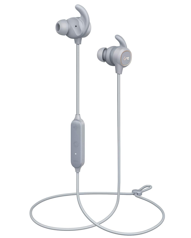 AUKEY Auricolari Bluetooth Sport, Key Series B60 Cuffie Wireless Grigio