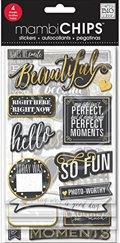 Value Pack me /& my BIG ideas Makes Me Smile Chalk Chipboard