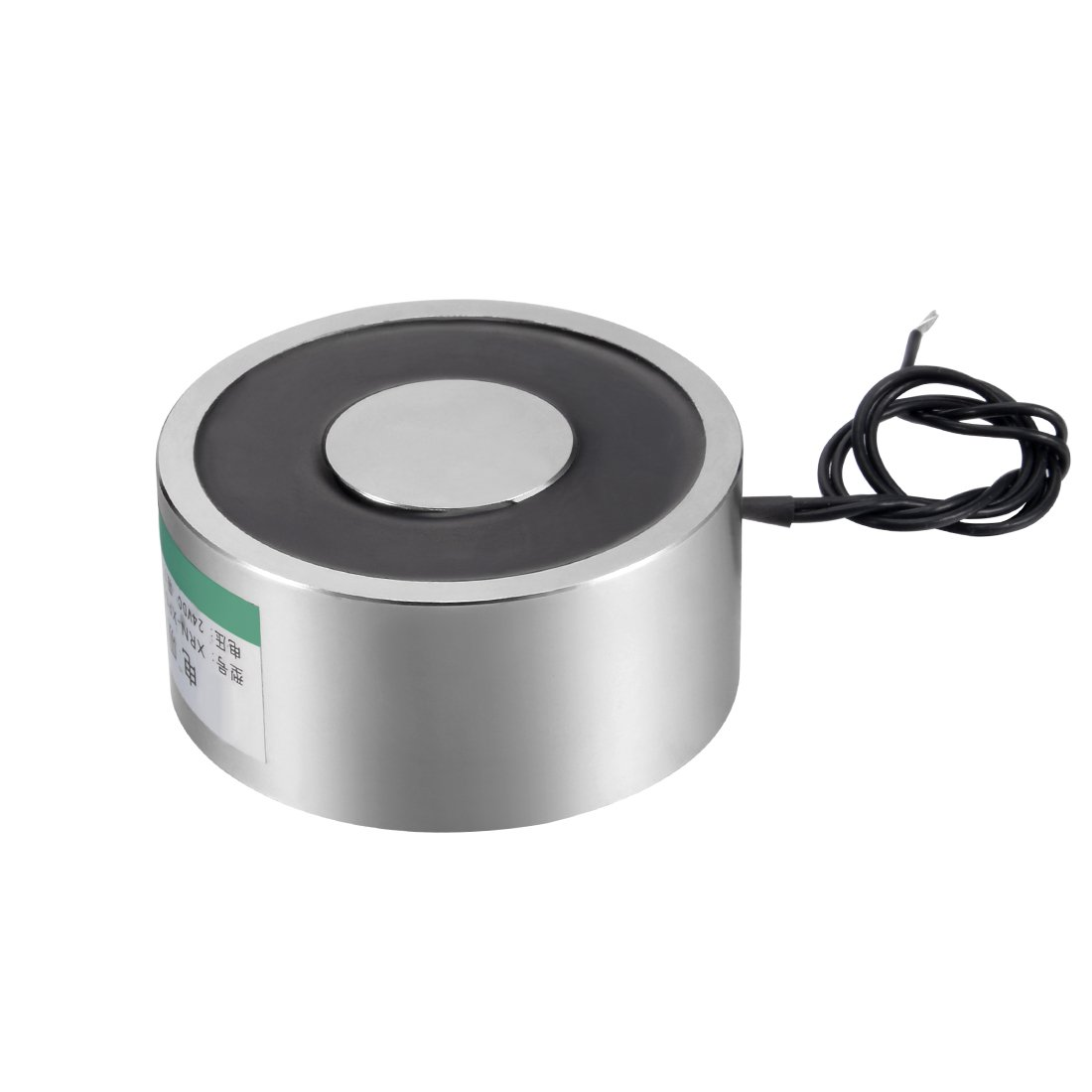 uxcell DC24V 800N Lift Holding Electromagnet Sucking Disc Electric Lifting Magnet Solenoid 65 x 30mm