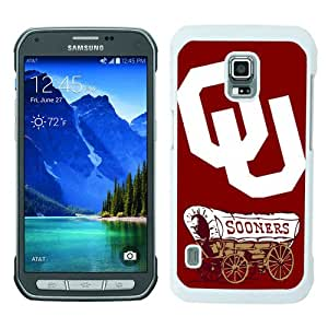 High Quality Samsung Galaxy S5 Active Skin Case ,NCAA Big 12 Conference Big12 Football Oklahoma Sooners 7 White Samsung Galaxy S5 Active Screen Cover Case Popular And Unique Custom Designed Phone Case