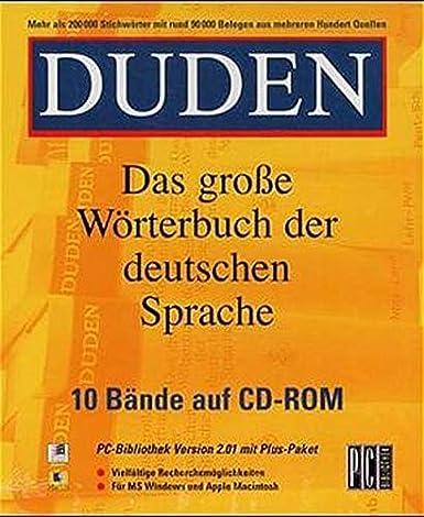 Duden Das Große Wörterbuch Der Deutschen Sprache Amazonde Software