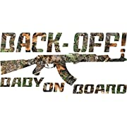 Camo Back Off Baby on Board Sticker Decal