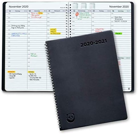 Terminplaner 2020 2021 von SmartPanda - Wochenplaner A5 – Softcover Tagebuch, 30 Minuten-Intervalle – Juli 2020 - August 2021 - auf Deutsch