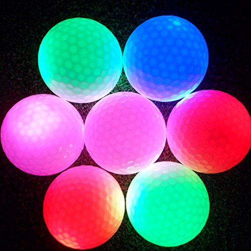 SoarUp Electronic LED Lighting Golf Ball for Dark Night Sport Practice Training Golf Ball(Green)
