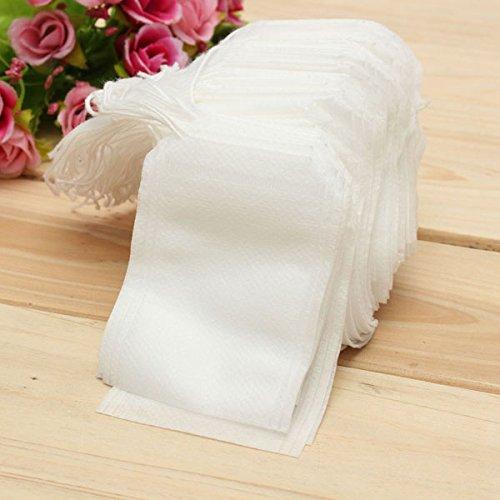 DIY 100Pcs Non-woven Fabric String Seal coffee Tea Bag Filter Empty