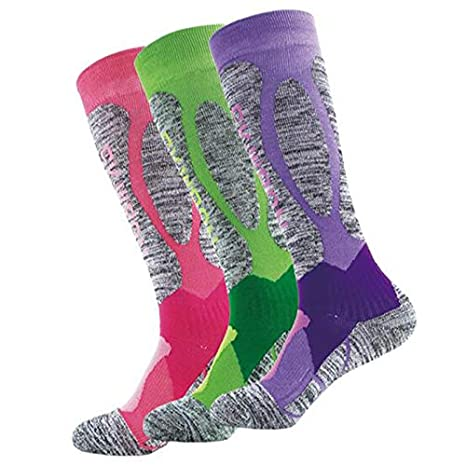 Amazon.com: KathShop New Winter Thermal Ski Socks Cotton Spandex Sport Snowboard Long Socks Wearable Thermosocks calcetines de Ciclismo Size: Kitchen & ...