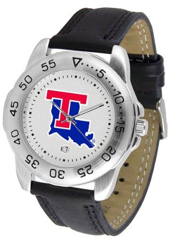 Tech Sport Bulldogs Watch Louisiana (NCAA Louisiana Tech Bulldogs Bold Logo Sport Leather Watch)