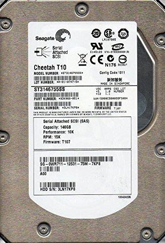 Seagate Cheetah T10 ST3146755SS 146GB 15,000RPM 16MB SAS Hard Drive (Sas Seagate Cheetah)