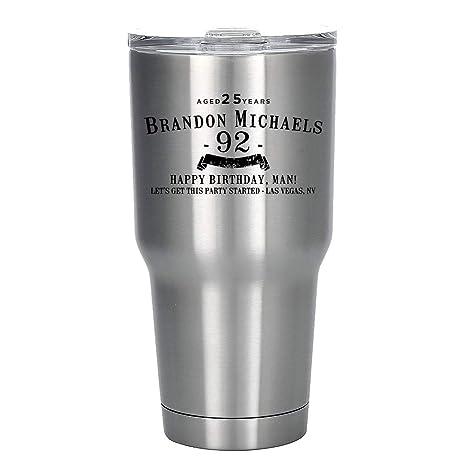Amazon.com: Vaso personalizado grabado de acero inoxidable ...