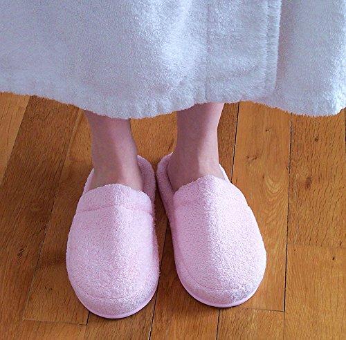 Ebsem Turkish Terry Towel Zapatillas Para El Hogar, Spa Bath & Hotel 100% Algodón Rosa