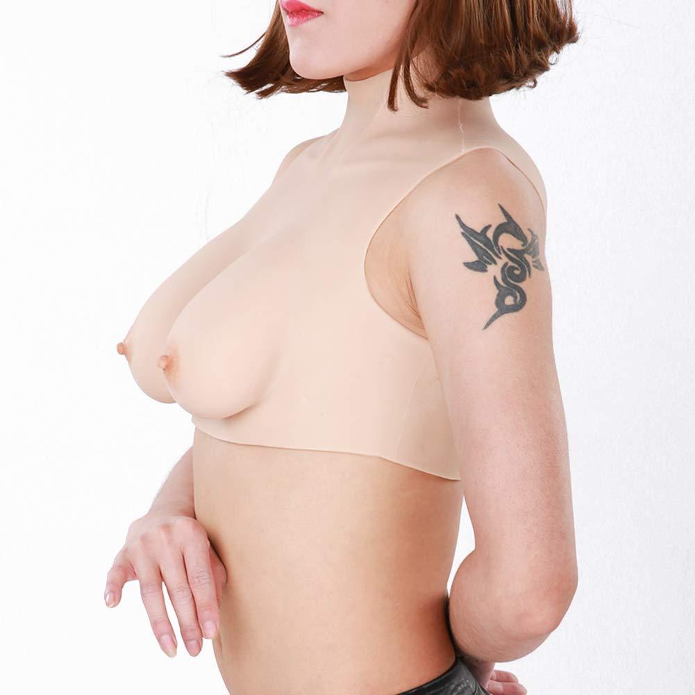 ,Asianyellow,B`CUP imbottitura in cotone di seta Protesi per mastectomia al seno falso per seno Mastectomia transgender Crossdresser Seni in silicone realistici in forma di seno in travestito