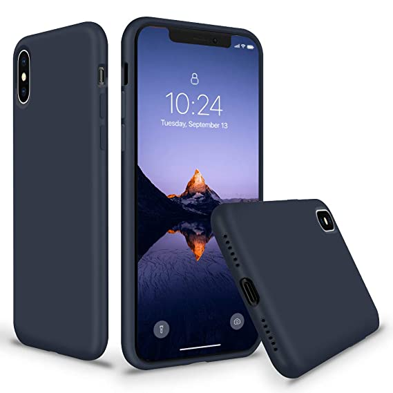 size 40 f8212 ce0c8 SURPHY Silicone Case for iPhone Xs iPhone X Case, Soft Liquid Silicone Slim  Rubber Protective Phone Case Cover (with Soft Microfiber Lining) ...